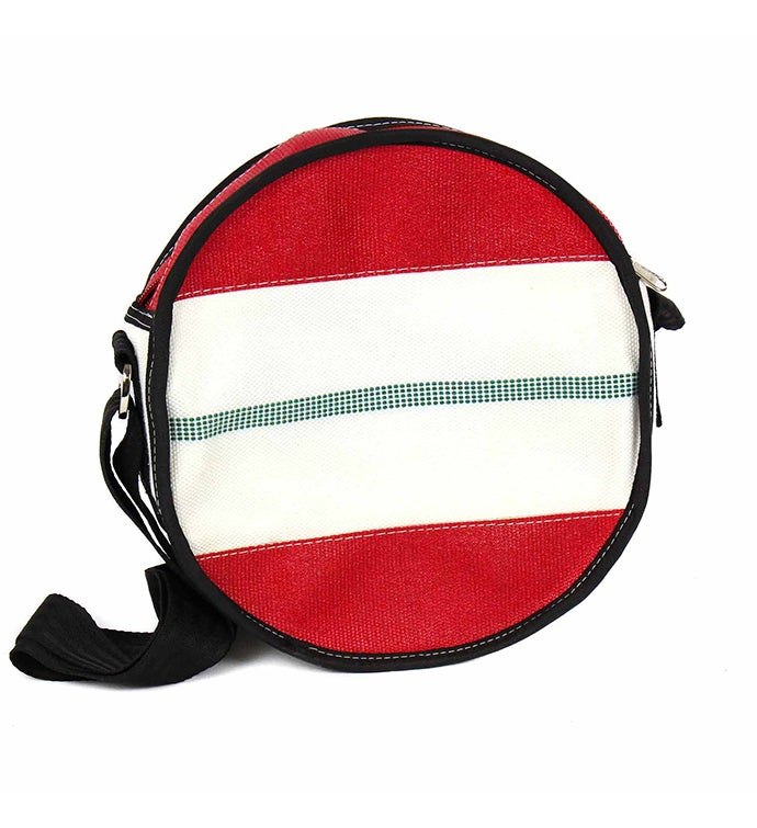 Recycled Fire Hose Circle Crossbody Bag