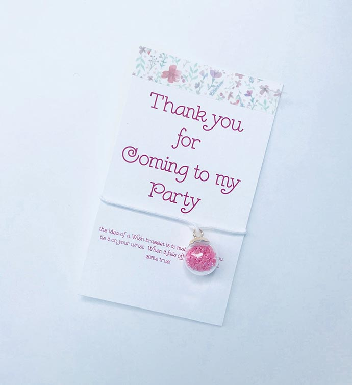 Party Thank You Wish Bracelet