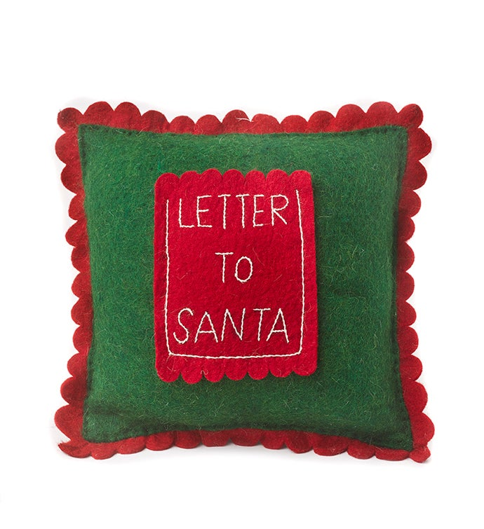 Letter To Santa Pocket - Handmade Christmas Cushion Cover