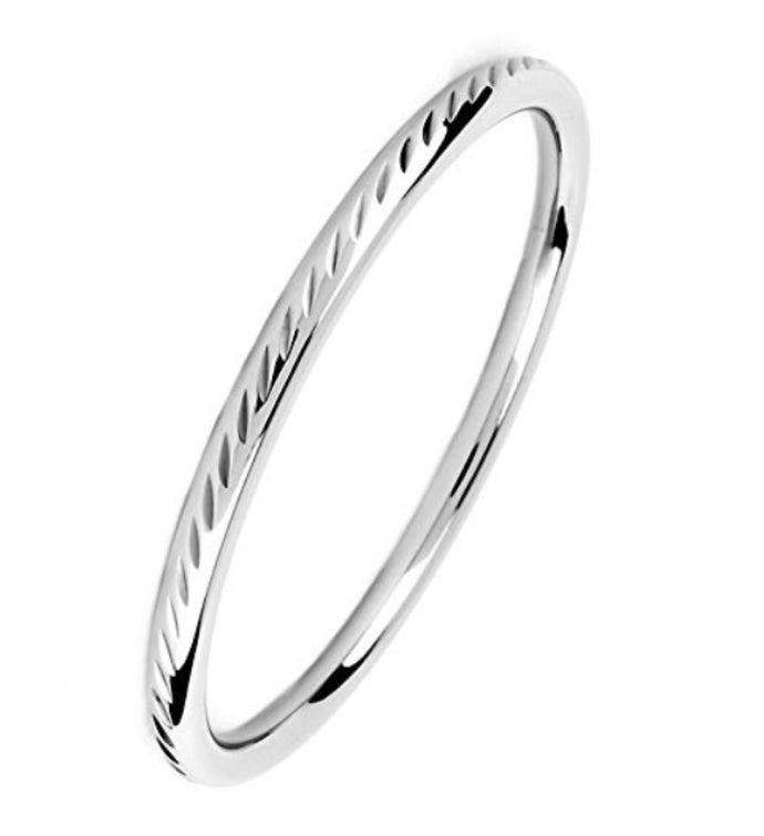 Diamond Cut Design Bangle Bracelet