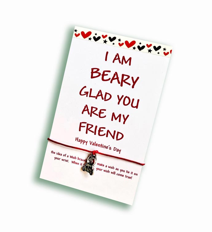 Beary Glad Friend Wish Bracelet