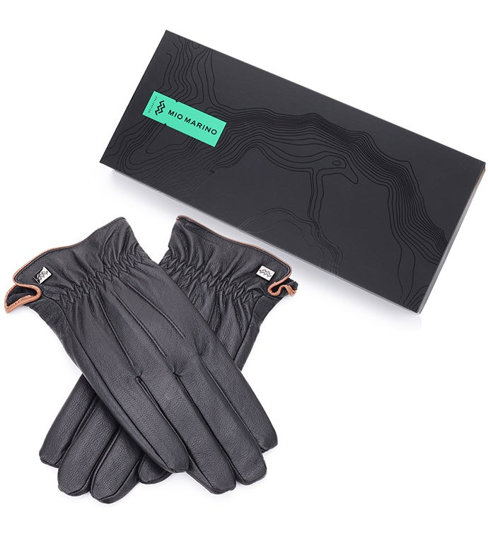 Mio Marino Classic Design Nappa Leather Gloves - Black