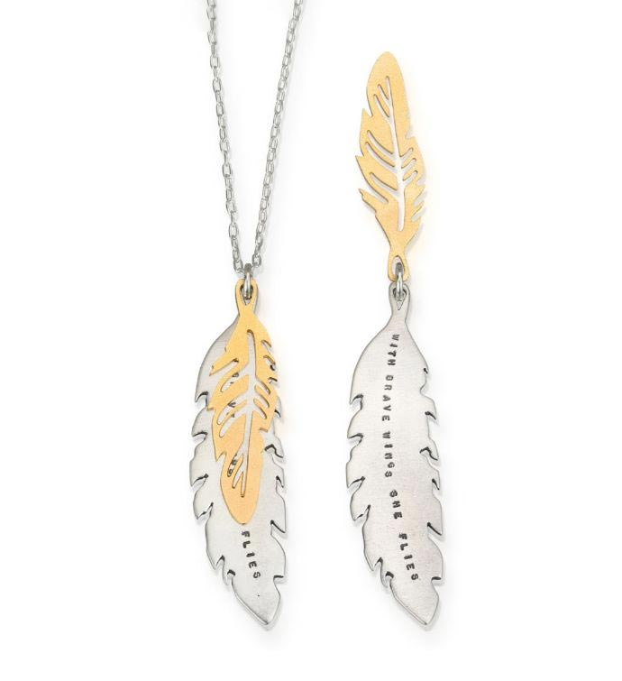 Brave WIngs Fly Necklace