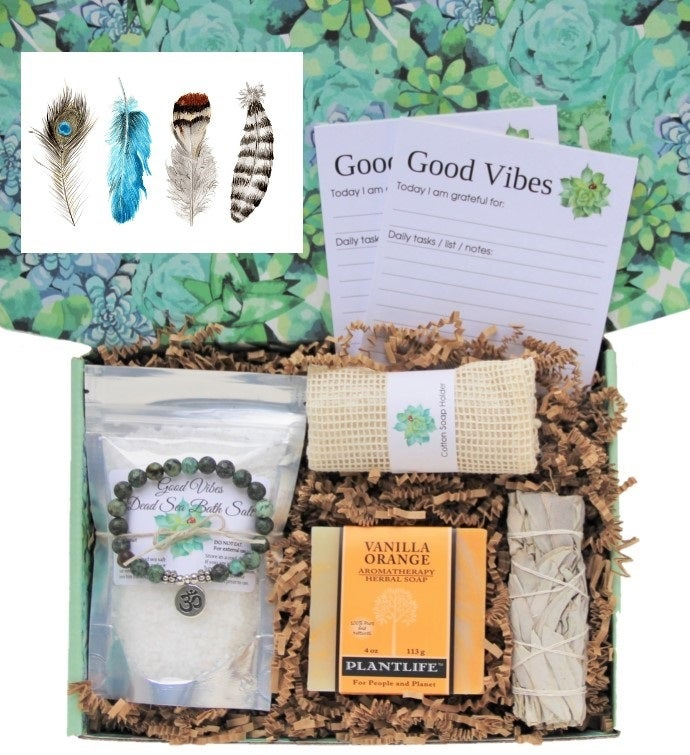 Feathers Good Vibes Women39s Gift Box