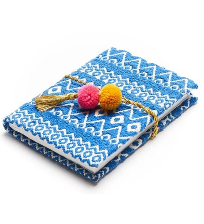 Handmade Fabric Pom Pom Journal