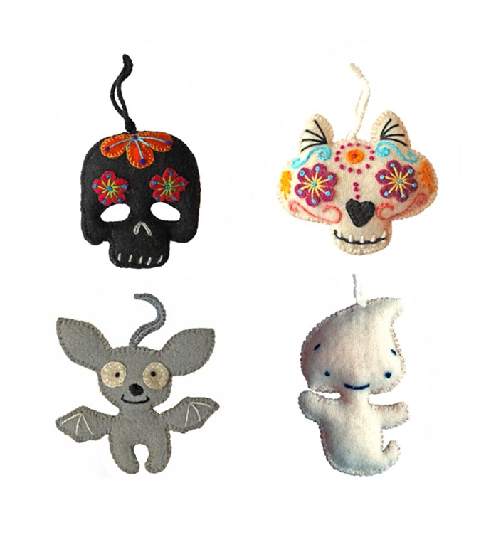 Halloween Ornaments- Set Of 4