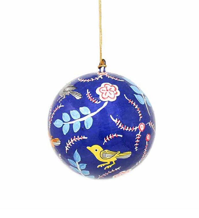 Hand Painted Bird Ornament - Set of 3