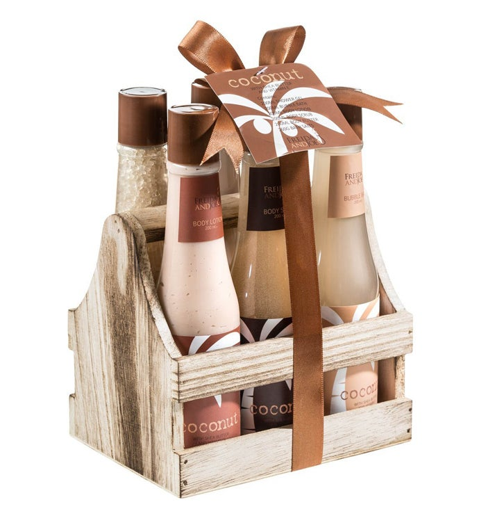 Tropical Milky Coconut Spa Gift Set Basket
