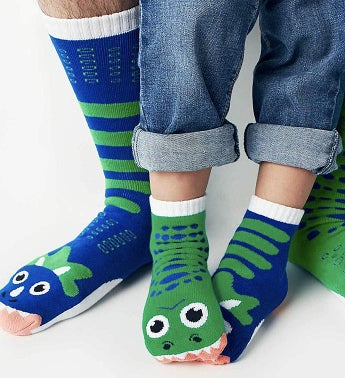T-Rex & Triceratops | Adult + Kid Socks