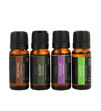 Essential Oil Blends including Heal Pain Relief Harmony Respire Focus Sleep Happy Synergy Blends